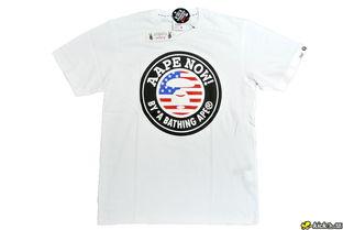 AAPE 美国国旗 Tee 白色