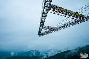 被外媒盘点为世界九大惊险高空项目之一的奥陶纪高空项目——步步惊心,是一条长度约15米,建在悬崖外的镂空平台,镂空平台之间的宽度从半步可以跨过去的宽度到一大步跨越的宽