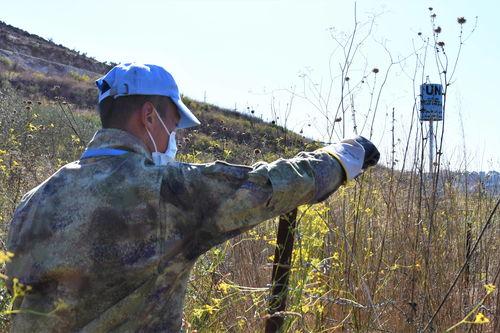 通讯披荆斩棘穿越死亡地带记中国新一批赴黎维和官兵首次蓝线勘察