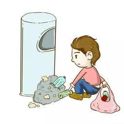 小男孩捡垃圾的事400字