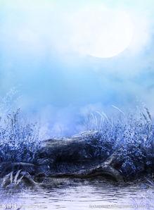蓝色淡雅唯美背景素材图片