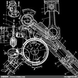 工业设计技术图纸矢量图3