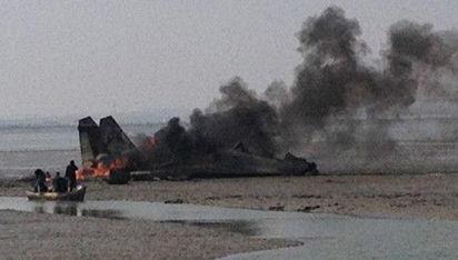 战斗机在山东荣成海域坠毁两名飞行员牺牲图