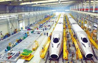 资料图:高铁生产线