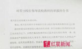 学校向当地派出所提交的举报控告书受访者供图