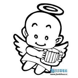 简笔画小天使的图片