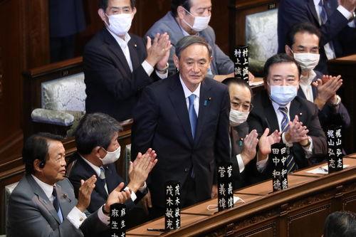 日本新任首相菅义伟.(