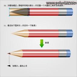 Fi reworks教程 绘制矢量逼真的铅笔图标