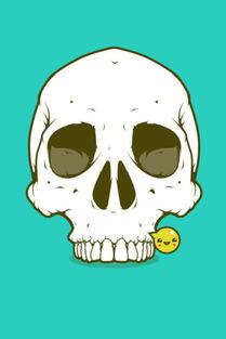 3d卡通骷髅头-卡通骷髅怪 3d