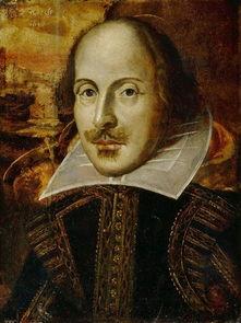 """莎士比亚画像莎士比亚""""现真颜"""""""