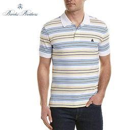 Brooks Brothers布克兄弟男士POLO衫slim修身男半袖T恤网格棉 美国