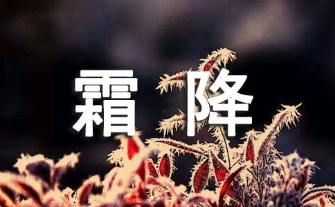 霜降提醒话语