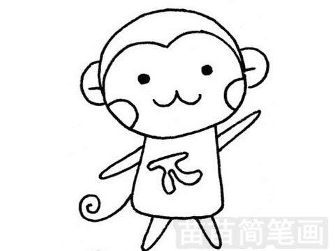 简笔画画小猴坐椅子写字的知识知识