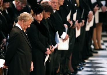 当地时间4月17日,英国前首相撒切尔夫人葬礼在圣保罗大教堂举行。