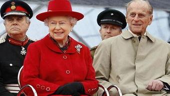 英国女王伊丽莎白二世与丈夫菲利普亲王