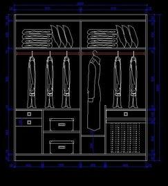 夫妻双人衣柜设计图纸