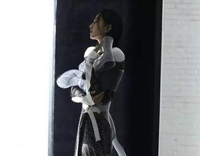 佟丽娅穿薄纱拍大片尽显朦胧神秘