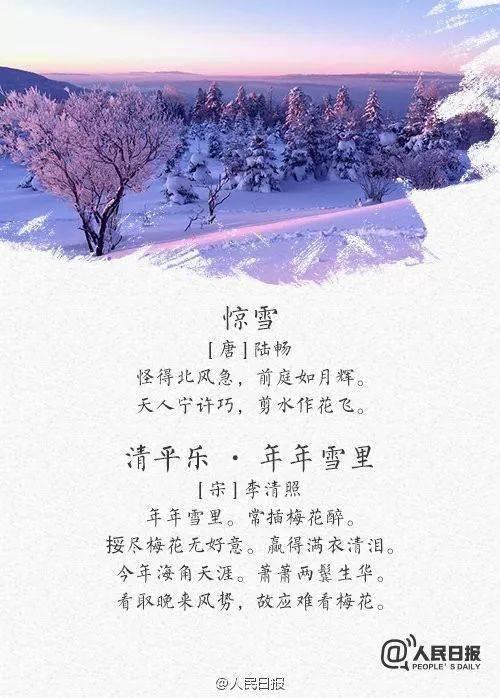 雪和花的古诗名句