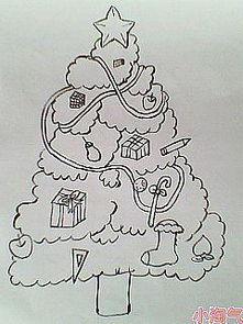 简单的画-速求圣诞树的简易画