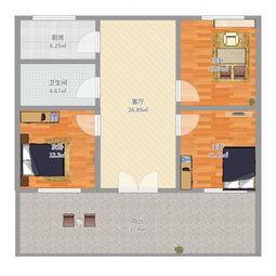 三室两厅一厨一卫户型图大全,装修户型图,户型图分析