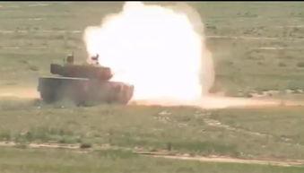 全速冲锋解放军05a自行迫榴炮群上合演中亮相