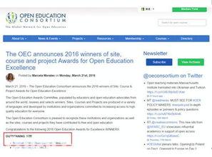 网易公开课获OEC2016大奖 跻身全球顶尖学习平台