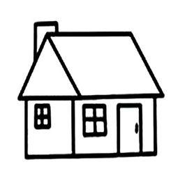 简单幼儿画房子简笔画范画 儿童房子简笔画