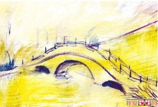 水粉画教程 水粉拱桥的画法