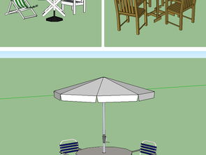 草图大师模型庭院 家庭桌椅套装 休闲椅设计图下载 图片2.96MB 其他模型库 其他模型