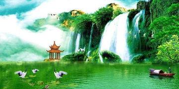 描写青山绿水的著名古诗词