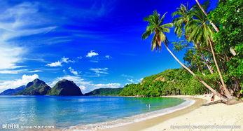 海边蓝天唯美意境图片
