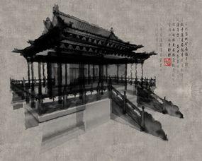 水墨古建筑图片