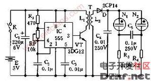 电子蜡烛电路图