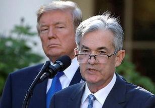 美国总统特朗普与美联储及主席鲍威尔。