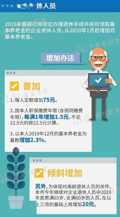 上海2020年养老金调整方案(图源:上海人社局)