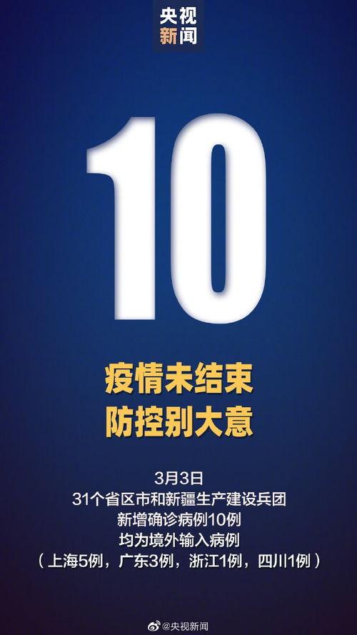 3月3日31省区市新增10例境外输入确诊