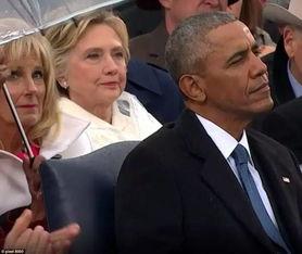 特朗普就职典礼上的奥巴马